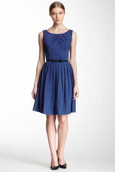 HauteLook   Ellen Tracy Dresses: Pleated Sleeveless Dress