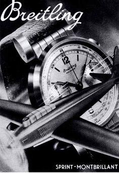 Vintage Breitling Ad
