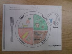 FREE - Food Groups Plate, also has food pictures, or kids can draw their own