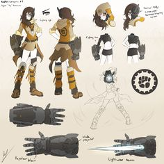 RWBY Concepts : OC - Siy by dishwasher1910.deviantart.com on @DeviantArt --> Someone made a cool OC.