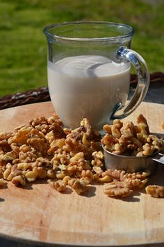Homemade Walnut Milk  Who knew making your own nut milk would be so easy!! Gotta try this.  Note: The Better Homes recipe calls for only 3 cups of water and also a tbsp of honey.
