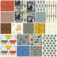 Charley Harper Nurture Organic 17 Fat Quarter Set by Birch Fabrics