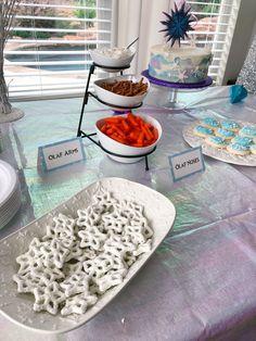 Audrey's Frozen II Winter Wonderland Birthday Party - bella Birthday Party At Home, Frozen Birthday Party, Birthday Board, Baby Birthday, Birthday Ideas, Frozen Party Invitations, Winter Wonderland Birthday, First Birthday Pictures, Frozen Lemonade