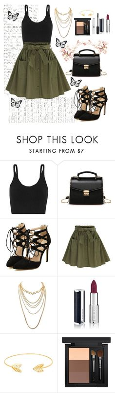 """."" by yossra6666 ❤ liked on Polyvore featuring TIBI, Charlotte Russe, Givenchy, Lord & Taylor and MAC Cosmetics"