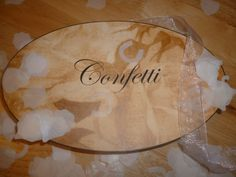 Giving out confetti to your guests to throw for those all important confetti shots?! How about a confetti sign to let your guests know to pick them up! x  Vintage style confetti sign £1.49 + p&p www.facebook.com/designedwithlove2012