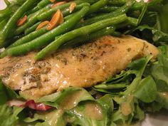 Christine Cooks: Catfish Salad With Green Beans And Toasted Almonds