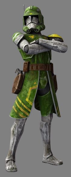 Doom is the nickname of a clone trooper commander during the Clone Wars. He wore a unique set of Phase II clone trooper armor composed of a green, yellow, and gray color scheme. He was involved in the battle of Ringo Vinda.