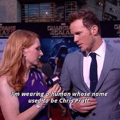 When Chris Pratt straight-up asked for a sexist red carpet question so he could highlight how absurd these questions are. | 26 Times Celebrity Men Shut Down Sexism In The Best Damn Way