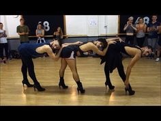 Three fierce male dancers in stiletto high heels give Beyoncé a run for her money