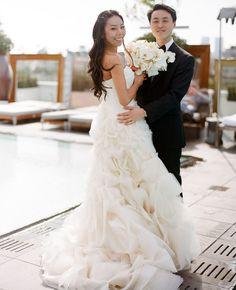 Bride & groom // Photo: Esther Sun Photography // TheKnot.com