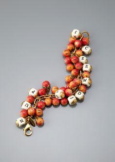 LENORA DAME Alphabet Beaded Bracelet