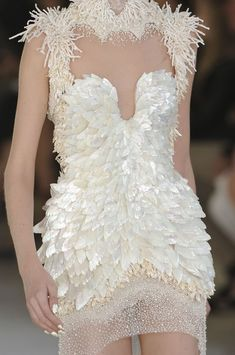 This is definitely for an out the box forward fashion bride...mcqueen, s/s 2012..white..