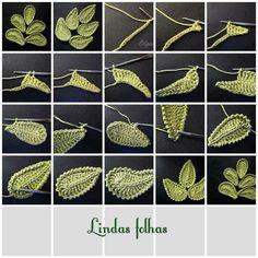 feuilles | Crochet | Pinterest | Crochet, Crochet irlandais et Tricot pinterest.fr554 × 554