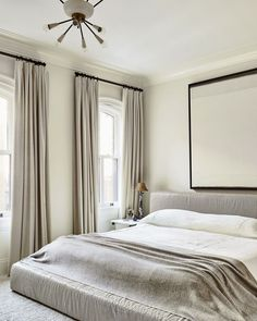The right window treatments can turn anyone into a morning person. Order the swatch at theshadestore.com. #LoveYourWindows As featured in Architectural Digest. Design by Nate Berkus & Jeremiah Brent.