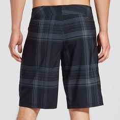 Men's Board Shorts Black Plaid 38 - Mossimo Supply Co., Durable