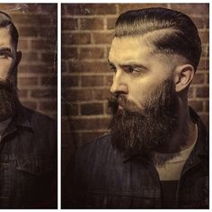 Chris John Millington - full thick dark beard and mustache beards bearded man men mens' style denim hairstyle hair so handsome  #goodhair #beardsforever