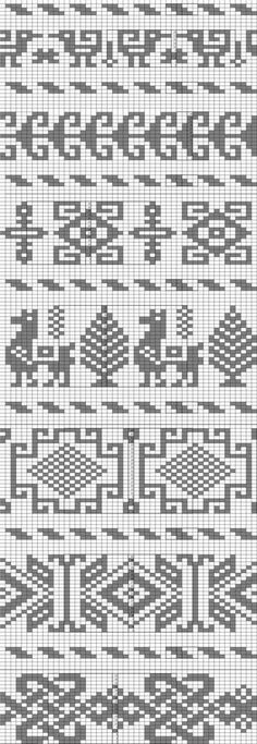 My collection of knitting chart patterns, jacquard style of knitting for children Fair Isle Knitting Patterns, Fair Isle Pattern, Knitting Charts, Loom Patterns, Loom Knitting, Knitting Stitches, Free Knitting, Knitting Machine, Cross Stitch Charts