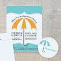 15 Free (and Adorable!) Printable Baby Shower Invitations: Umbrella Baby Shower Invitations by On To Baby