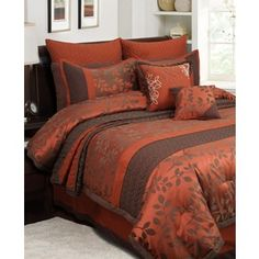 King Size Brown Sage Stripe Bedspread King Size Bedding