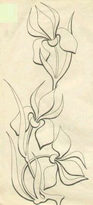 New Pic Fabric painting stencil Concepts , Embroidery Designs, Hand Embroidery Patterns, Applique Patterns, Ribbon Embroidery, Stencil Painting, Fabric Painting, Painting & Drawing, Iris Drawing, Wall Stenciling