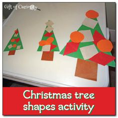 #Christmas tree shapes activity - Gift of Curiosity