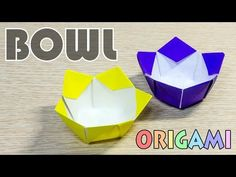 Origami Bowl : How to make a paper flower bowl - YouTube