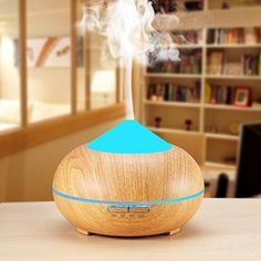 Aromatherapy Essential Oil Diffuser,Werleo Wood Grain Ultrasonic Cool Mist Whisper Quiet Aroma Air Humidifier 7 Color LED Light Changing 4 Timer Setting Waterless Auto Shut-Off for Spa Baby Home Aroma Diffuser, Essential Oil Diffuser, Essential Oils, Healthy Style, Color Changing Led, Heating And Cooling, Aromatherapy, Night Light, Simple Designs