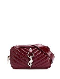REBECCA MINKOFF BURGUNDY CAMERA BELT BAG. #rebeccaminkoff #bags #leather #belt bags Calf Leather, Luxury Branding, Rebecca Minkoff, Calves, Shoulder Strap, Zip Around Wallet, Burgundy, Women Wear, Belt