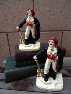 Vintage Pair of Cast Iron Pirate Bookends by TiesofMyFather