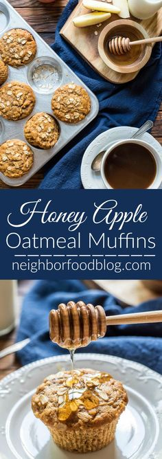 These Apple Oatmeal Muffins are spiced with cinnamon and lightly sweetened with…