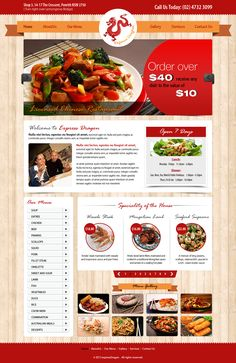 Express Dragon home page design