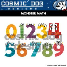 This set of 17 monster math symbols and numbers is sure to catch students' attention. This custom clip art download includes each symbol shown in both JPEG and PNG formats.