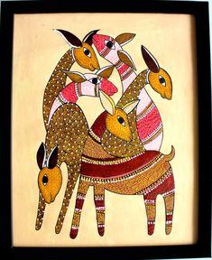 Gond Painting, Twig Art, Kalamkari Painting, Madhubani Art, Indian Folk Art, Indian Art Paintings, Buddha Art, Art Drawings Sketches Simple, Tribal Art