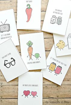 Cute and quirky Valentine's Day cards for you to print for free!