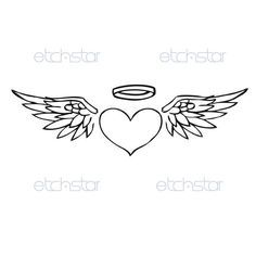 Heart With Wings And Halo Tattoo Designs 1000 ideas about heart with ...