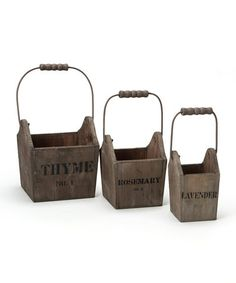 Take a look at this Herb Basket Set by Designs Combined Inc. on #zulily today!