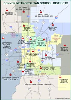 Denver School District Map, 2011, http://www.kristalsellsdenver.com/education/denver-metropolitan-school-district-map/, Good Map