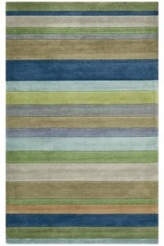Rug. The stripes would be parallel to the length of the room. Would that make the room appear wider?