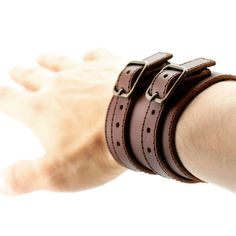 brutal bracelet from a genuine leather by Leonid Titow (@leonidtitow) в Instagram