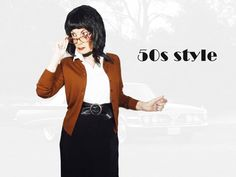 50s Style Cardigan, Medium Vintage Brown WASHABLE Wool Sweater, Cool Cute Classic Mid Century Retro Preppy Girl or Secretary 50s Rockabilly, Rockabilly Fashion, Wool Cardigan, Wool Sweaters, Preppy Girl, Vintage Fashion, Big Butt, Retro, Secretary
