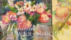 Learn How to Paint Watercolor Flowers in: Watercolor Flower Bouquet - Paint a vibrant floral still life with essential skills that will transfer to every watercolor work you create! Learn it all in this online class. Step By Step Watercolor, Watercolor Sketch, Watercolor Flowers, Abstract Flowers, Watercolor Painting Techniques, Watercolor Paintings, Watercolor Classes, Painting Classes, Painting Trees