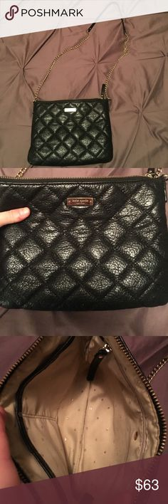 Kate spade quilted crossbody Patent quilt with gold chain kate spade Bags Crossbody Bags