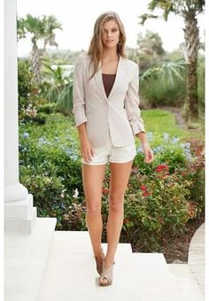 RUCHED SLEEVE KHAKI BLAZER- Body Central
