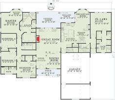 Open Living with In-Law Suite - 59679ND   Traditional, Photo Gallery, 1st Floor Master Suite, Bonus Room, Butler Walk-in Pantry, CAD Available, Den-Office-Library-Study, In-Law Suite, MBR Sitting Area, PDF, Corner Lot   Architectural Designs
