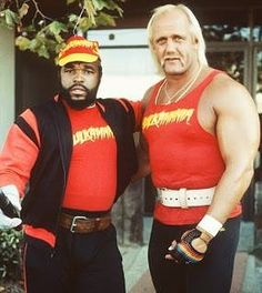Keeping #TeamUpTuesday a thing with one of the greatest team-ups in #wrestling history! #HulkHogan and #MrT!  #WWE #WWF #LegendsofWrestling #Hulkamania #teamup #80s #ILovethe80s