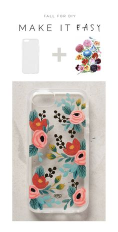 Fall For DIY Make it Easy Floral Tattoo Phone Case