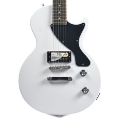 Electric Guitar Pack Alpine White w/MityPRO Mini-Amplifier Les Paul Jr, Epiphone Les Paul, New Starter, Cheap Guitars, Alpine White, Chicago Shopping, Packing, Electric Guitars, Mini