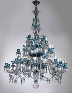 Magnificent antique french baccarat crystal chandelier circa 1850 a large baccarat crystal bambous tor forty six light chandelier 20th century aloadofball Image collections