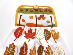 Falling Leaves Hanging Pot Holder Top  by GabbysQuiltsNSupply, $8.98