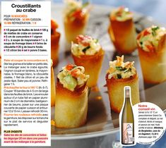 Croustillants au crabe